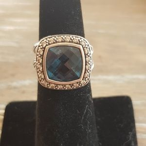David Yurman Albion 11mm Hampton Blue Topaz Ring